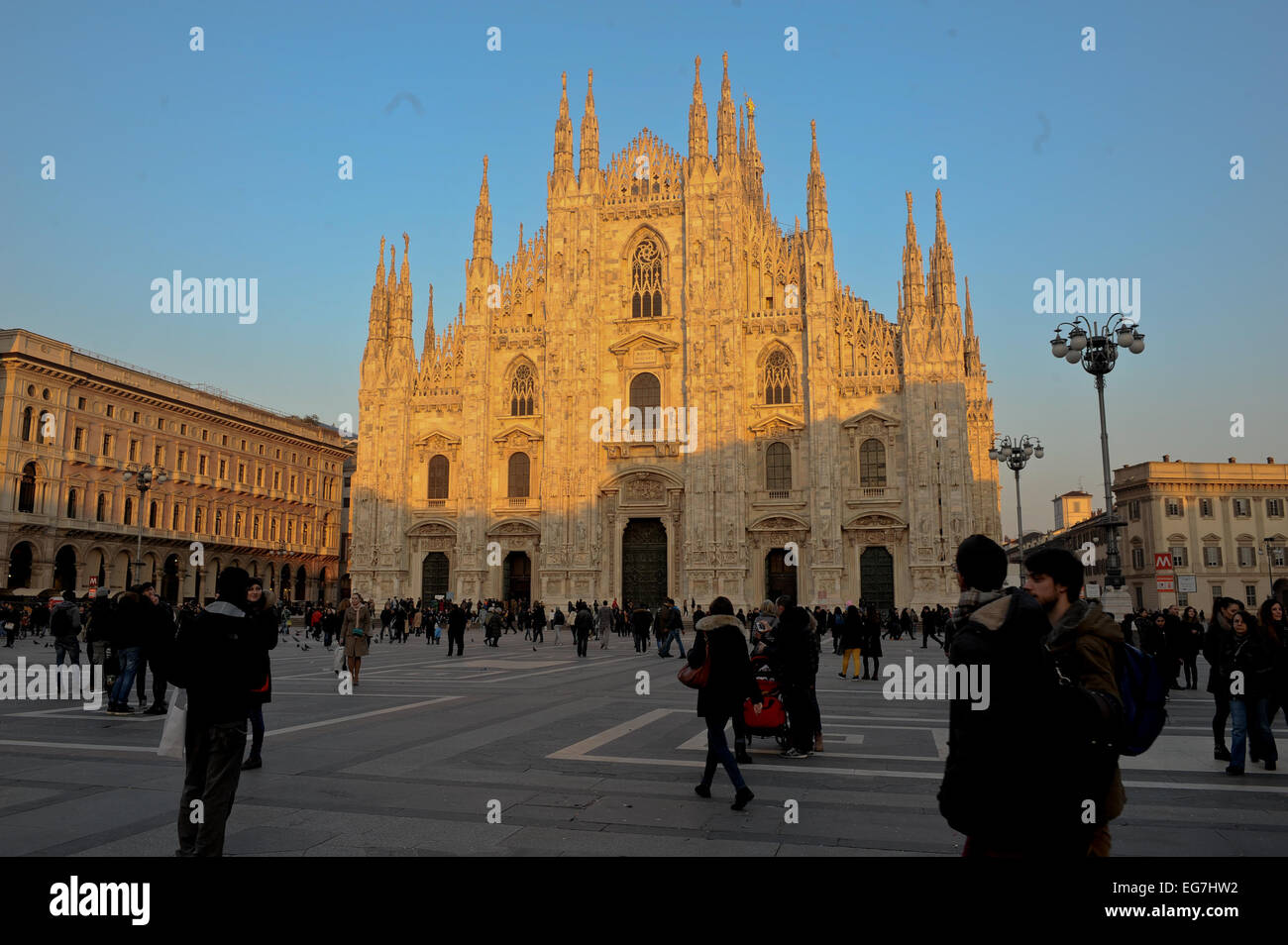 Milan, Duomo, Cathedral (Italian: Duomo di Milano) is the cathedral church of Milan in Lombardy, Italy. Stock Photo