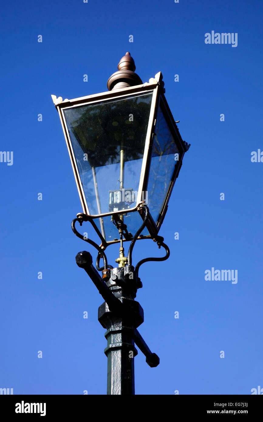 Gas Lamp Street Lighting, UK Stock Photo