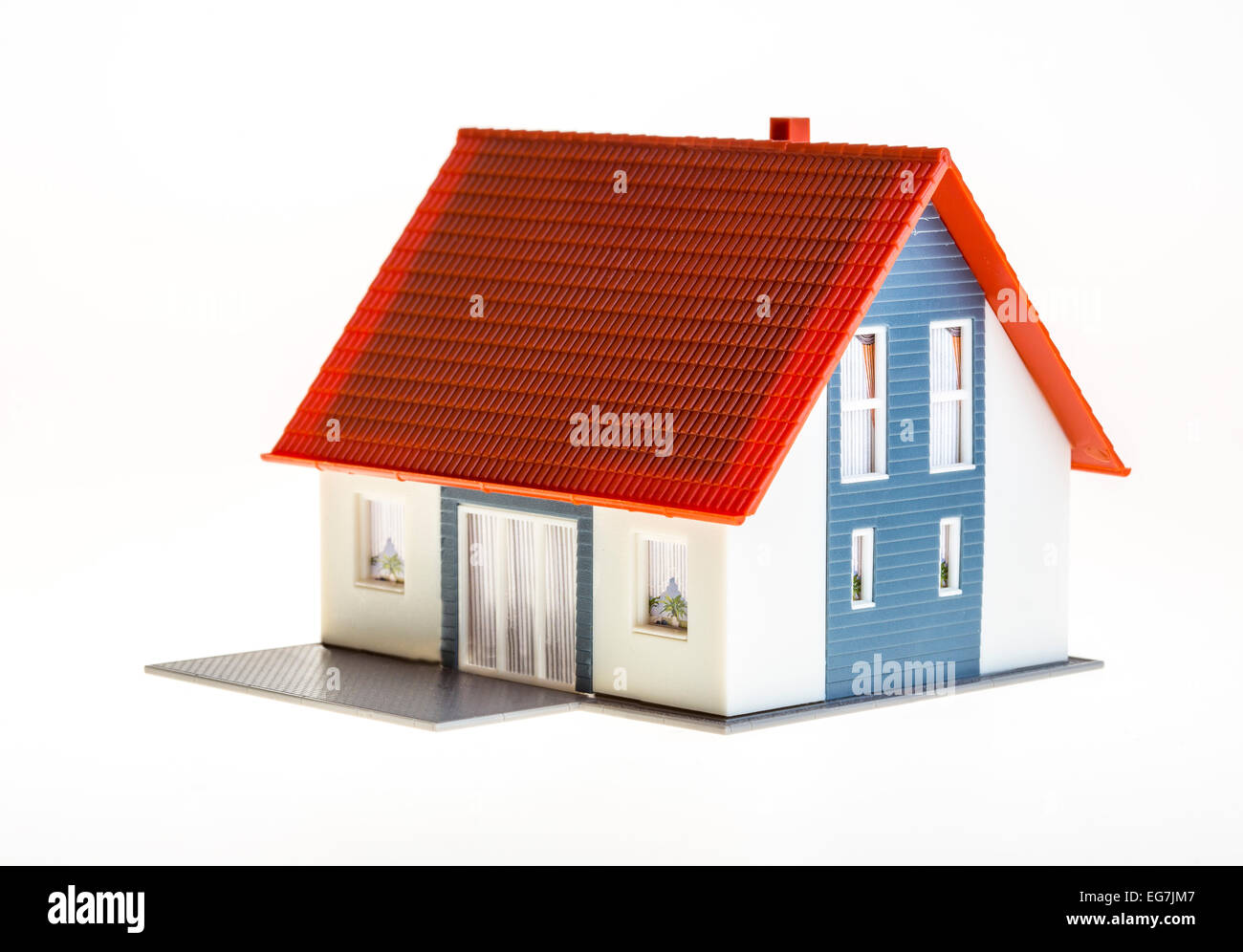 Symbolic image, home, house, real estate, plastic model house, - Stock Image