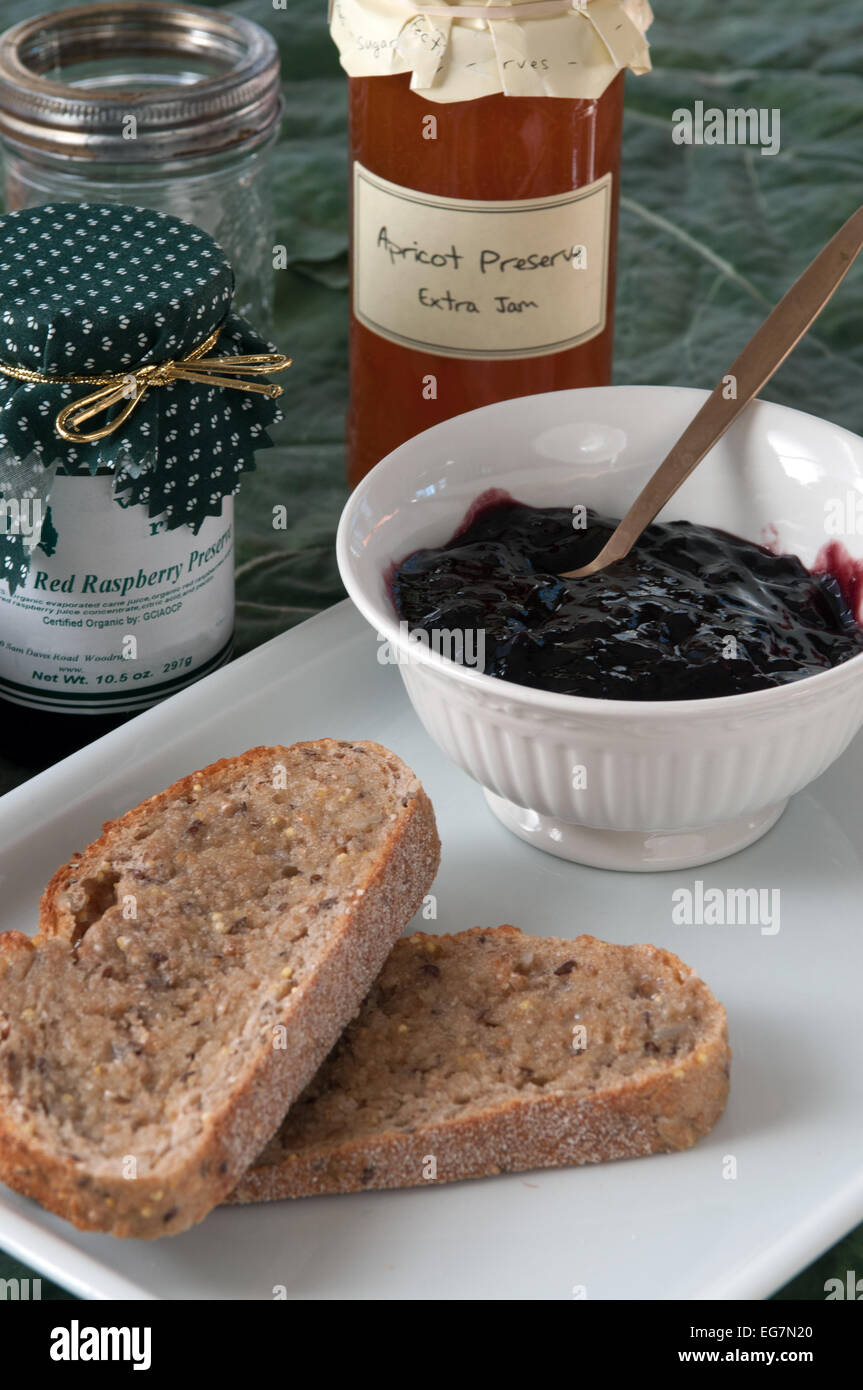 Bread and Jelly - Stock Image