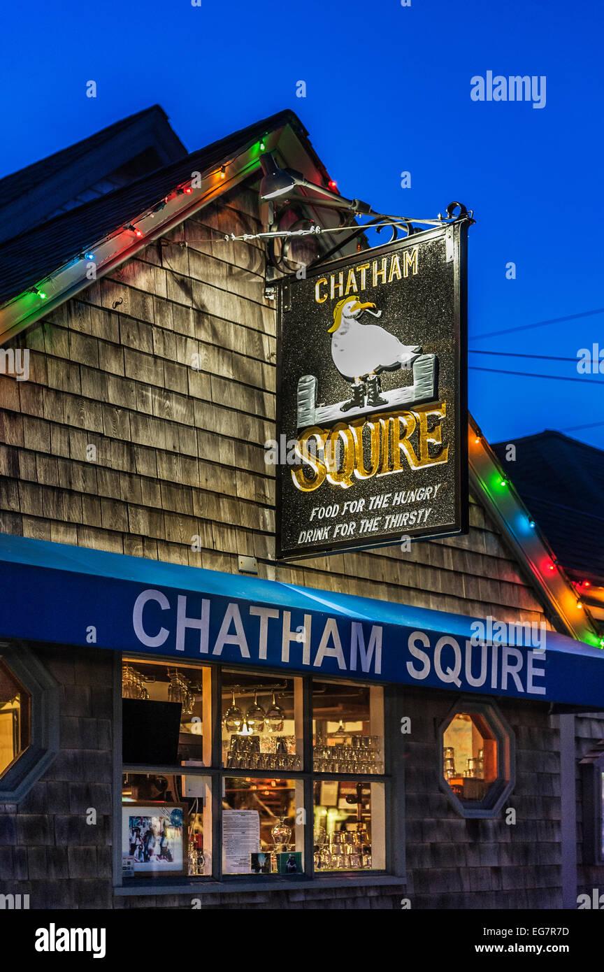 The Chatham Squire pub, Cape Cod, Massachusetts, USA - Stock Image