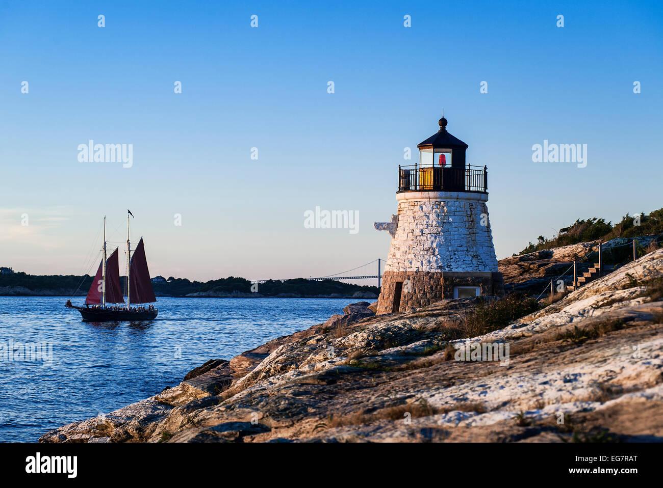 Castle Hill Lighthouse Overlooking Narragansett Bay