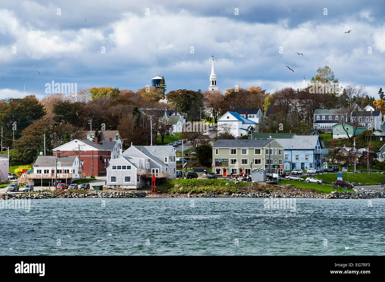 Lubec, Maine, USA. Eastern most point in the USA. - Stock Image