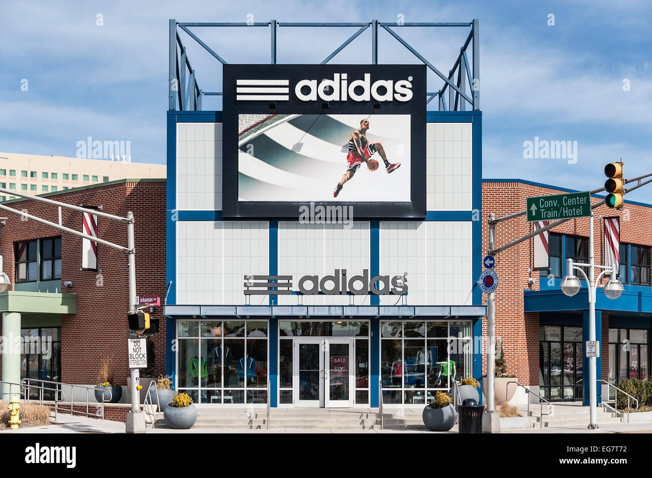 Adidas Factory store outlet, Atlantic City, New Jersey, USA - Stock Image