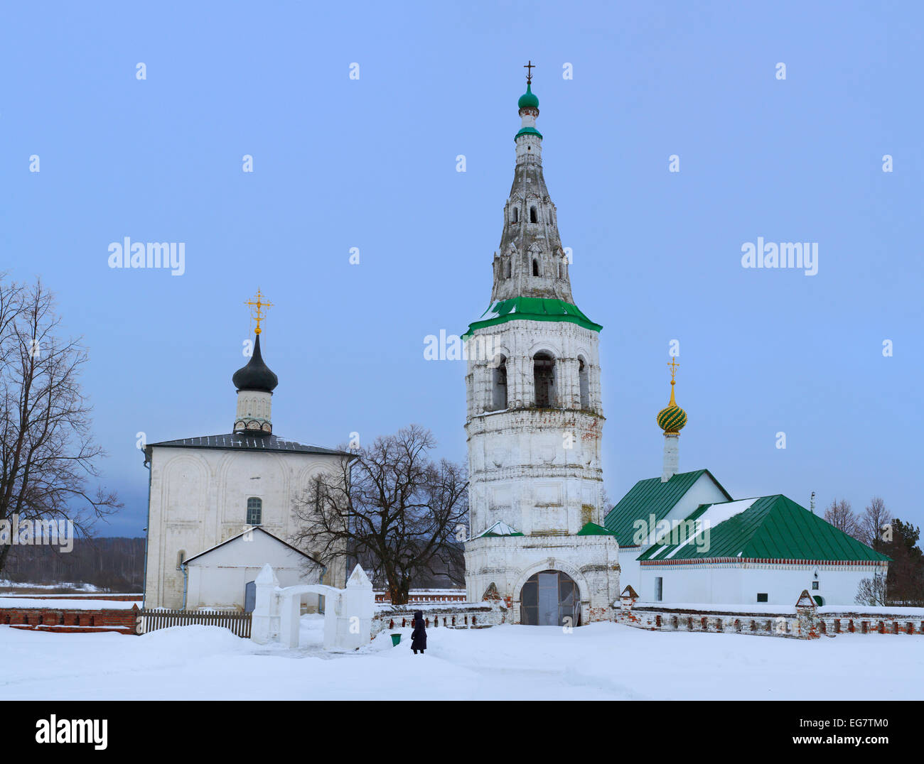 Church of Boris and Gleb, Kideksha, Vladimir region, Russia - Stock Image
