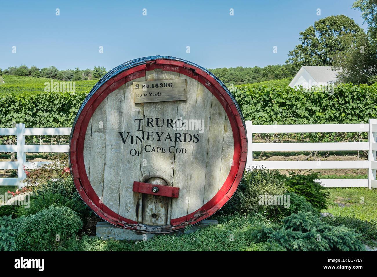 Truro Vineyards, Cape Cod, Massachusetts, USA - Stock Image