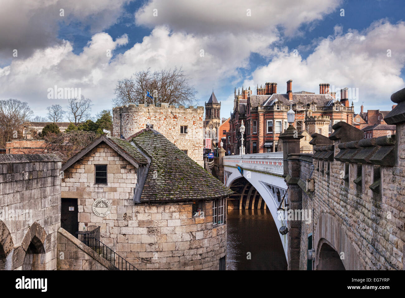 Some of the historic buildings of York, North Yorkshire, England, showing a variety of styles from the city's - Stock Image