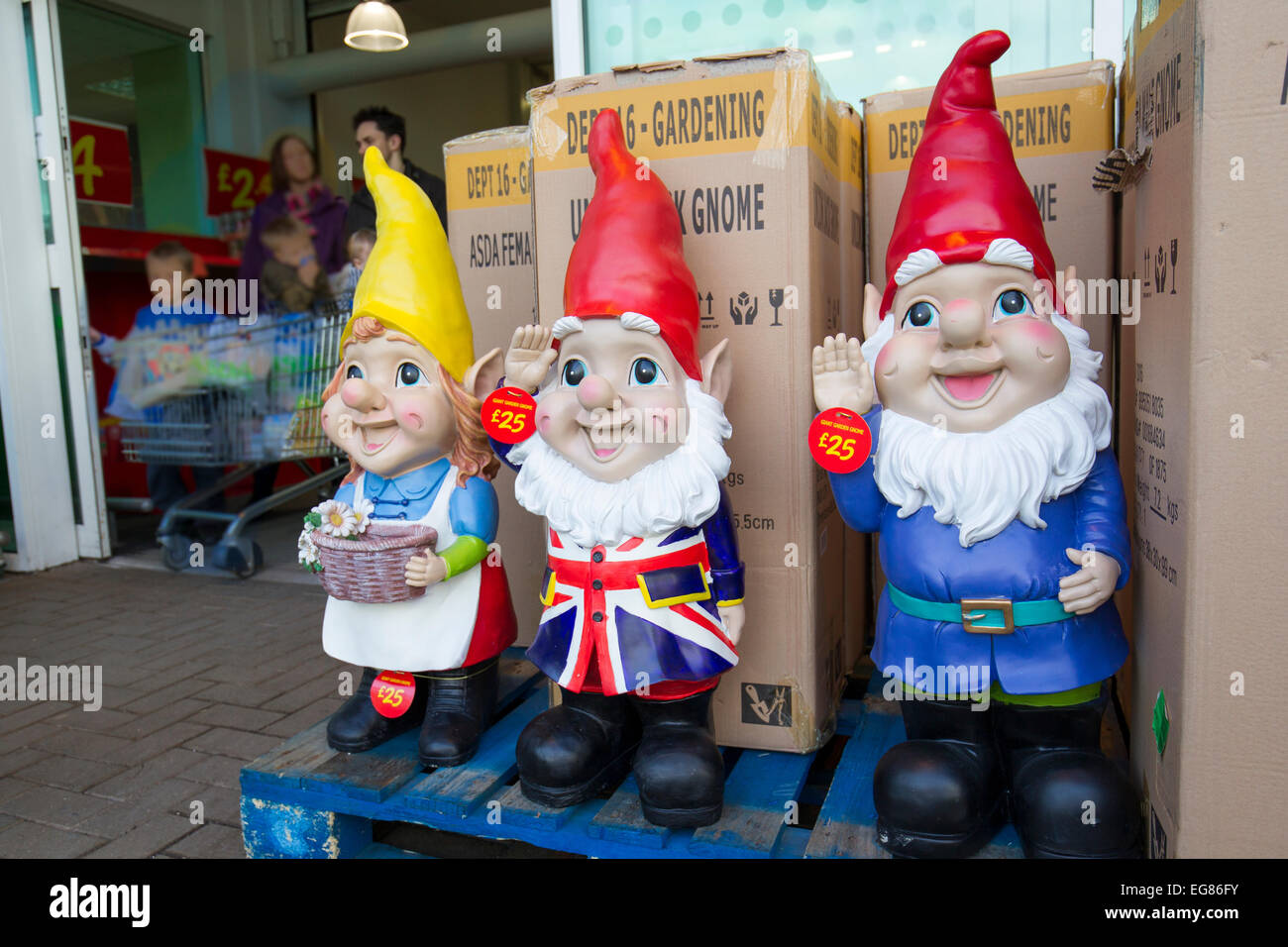 Giant Garden Gnomes On Sale At Asada Kendal Stock Photo 78856735