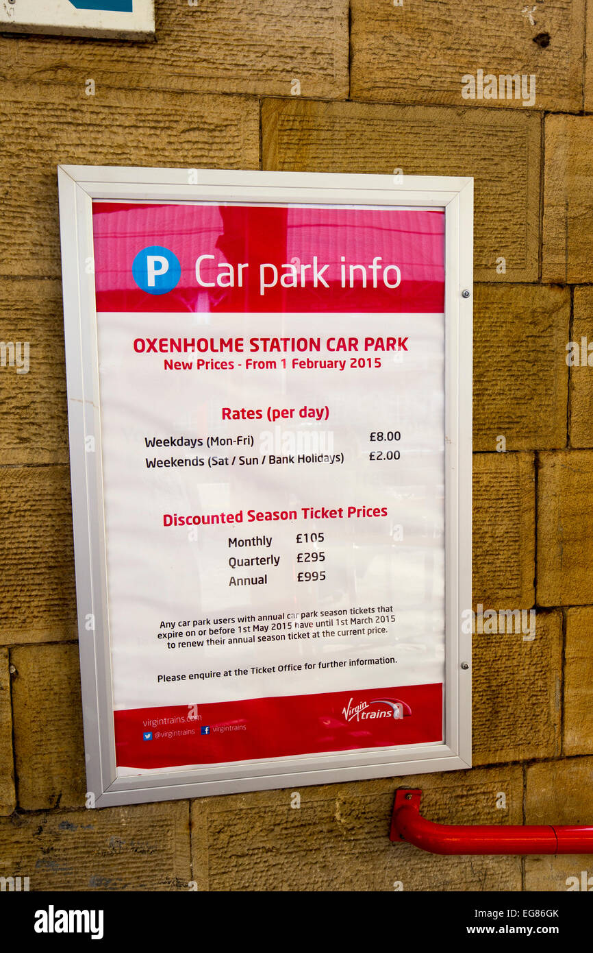 Oxenholme Station Car park charges - Stock Image