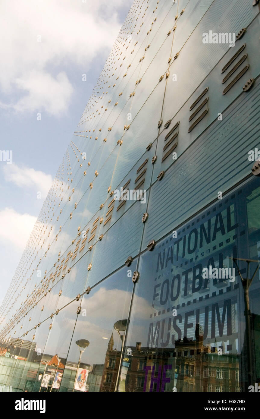 national football museum manchester nfm glass curtain wall walling Stock Photo