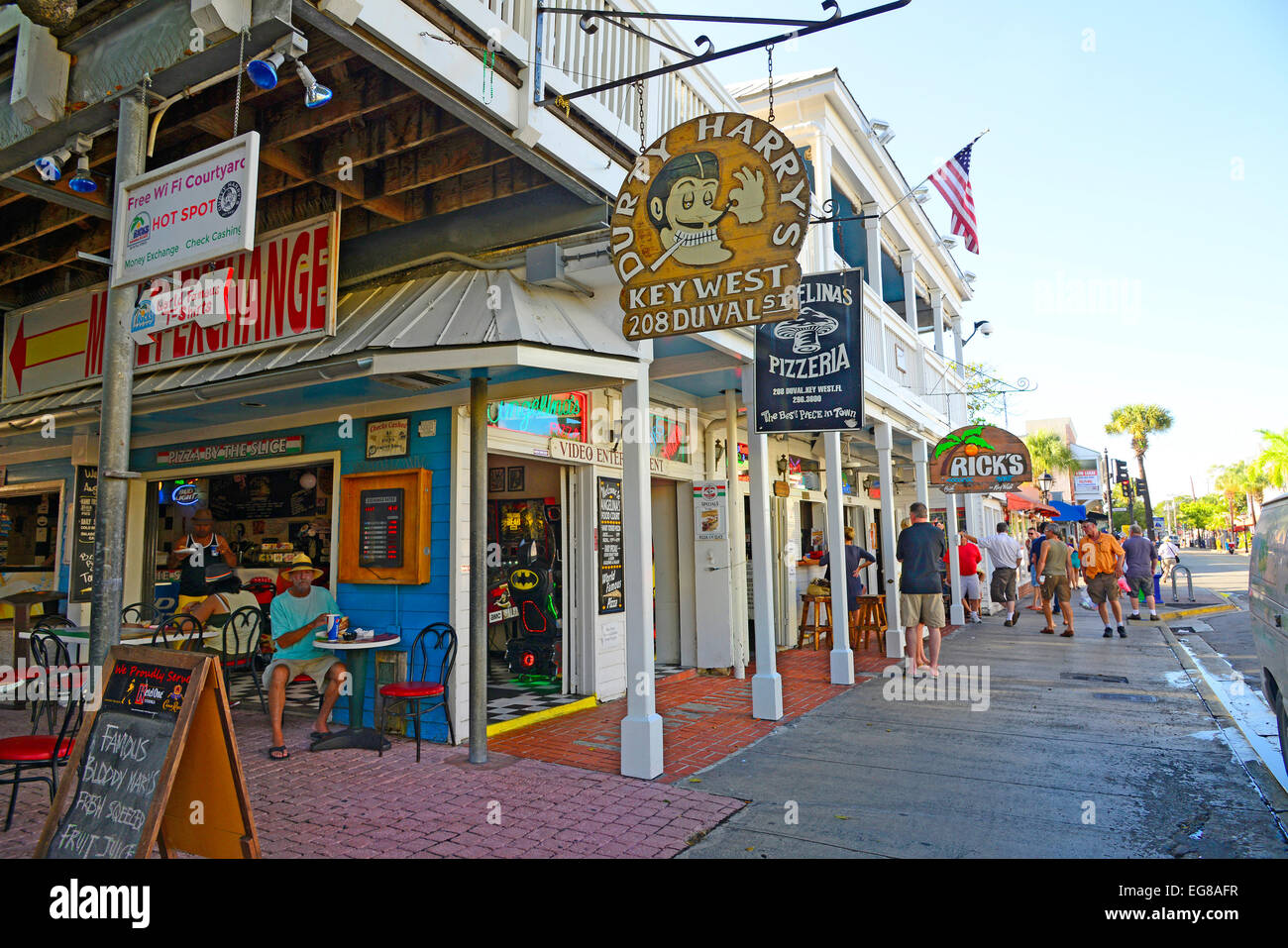 Downtown Key West Florida FL destination for Western Carribbean Crusie from Tampa - Stock Image