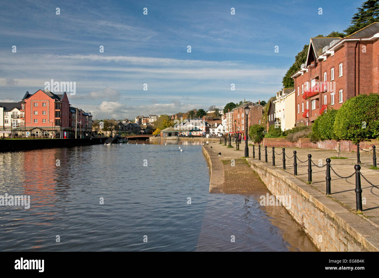 The River Exe at  Exeter Quay - Stock Image