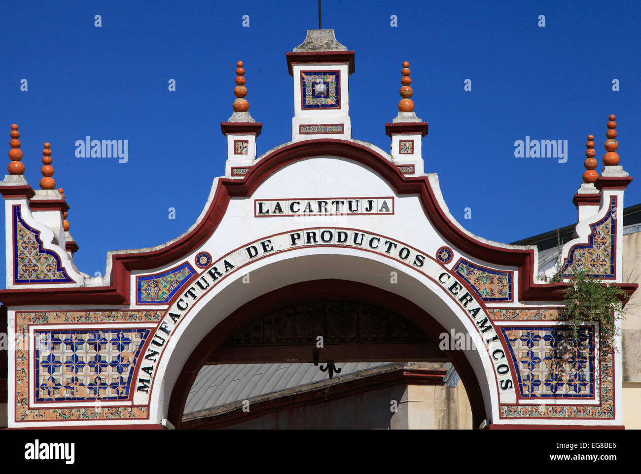 Spain, Andalusia, Seville, La Cartuja, gate, - Stock Image