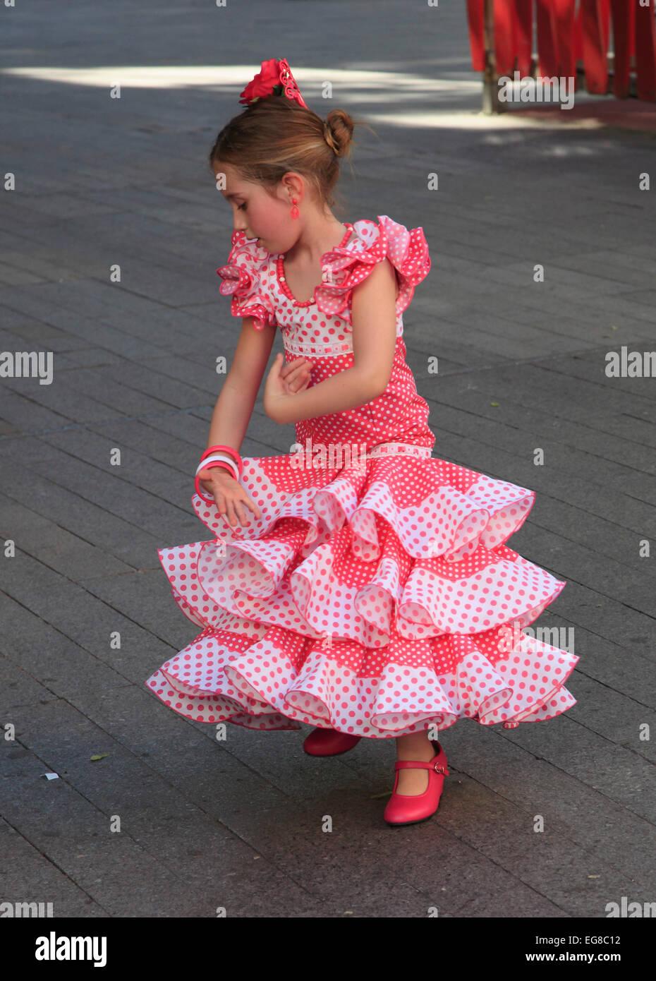 Spain Andalusia Seville Fair Feria De Abril People Festival
