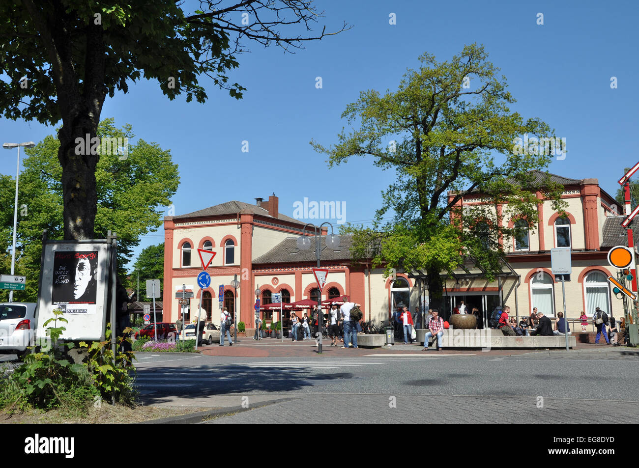 LEER, GERMANY - JUNE 2010: Railway station of Leer, a town in the northwestern part of Lower Saxony, Germany - Stock Image