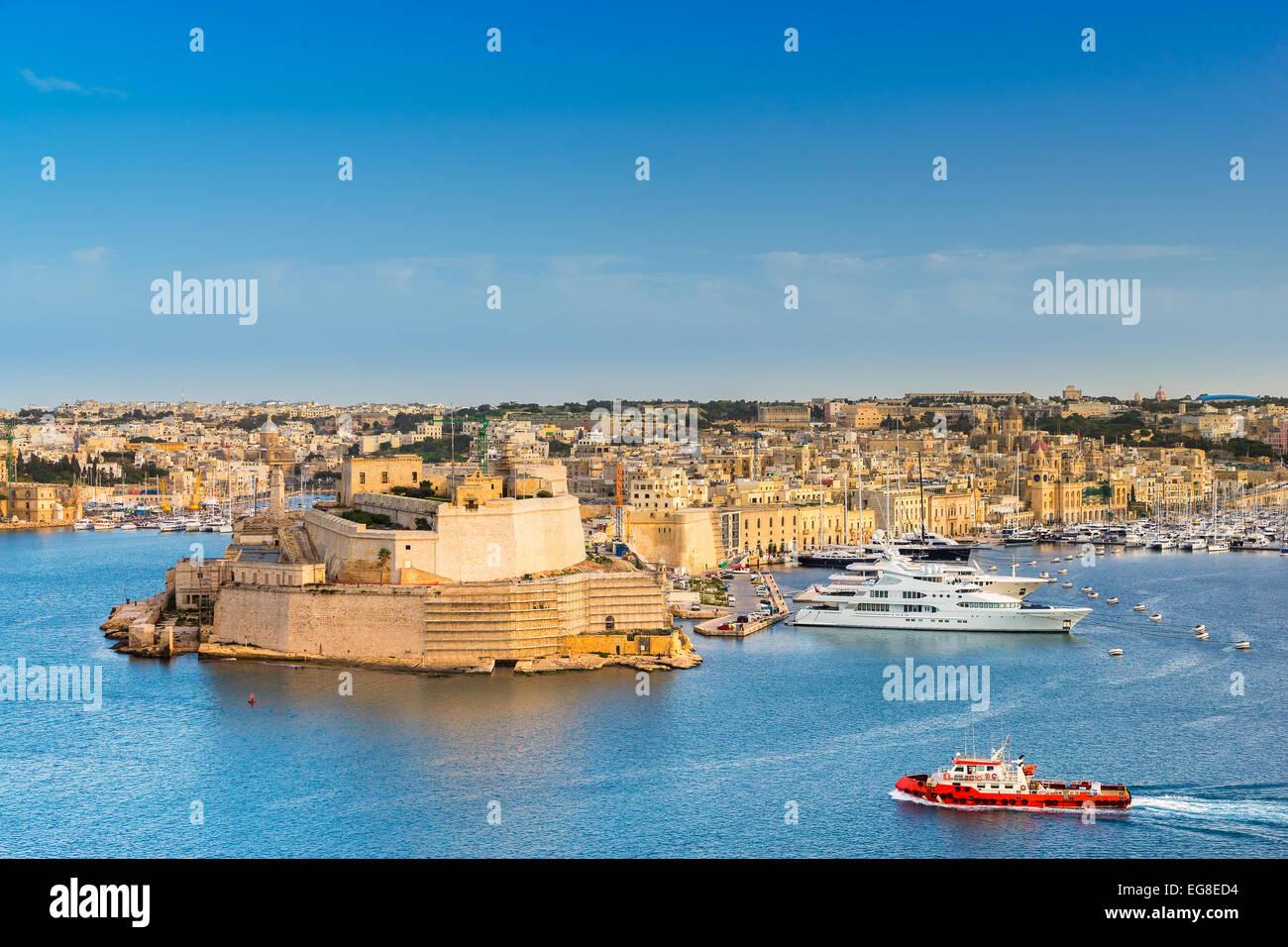 St Angelo Fort in Valletta - Stock Image