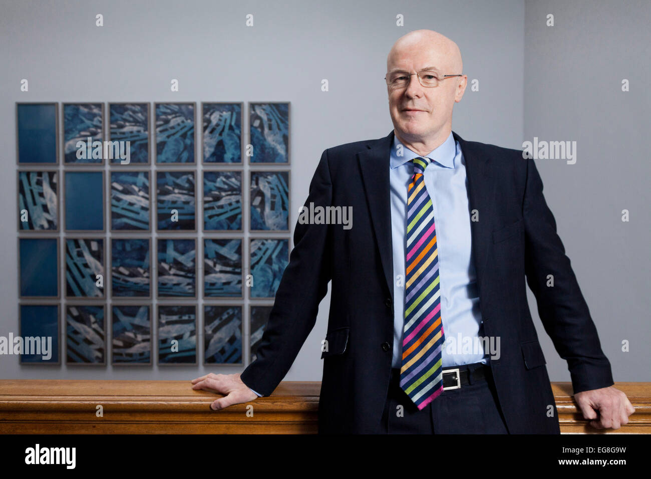 Harry Nimmo, fund manager with Standard Life Investments, Edinburgh - Stock Image