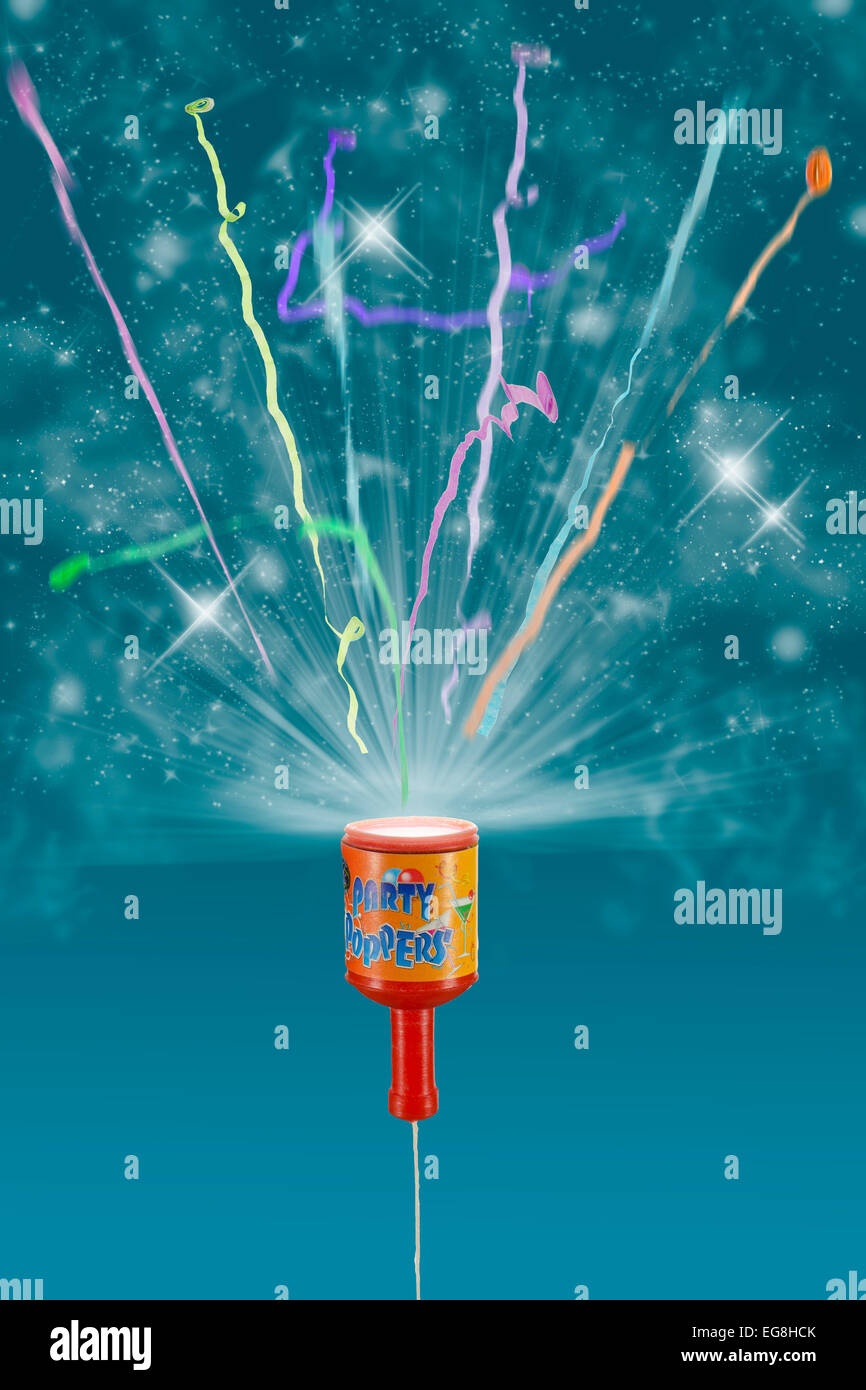 brand new 6e1fe 30416 Exploding party popper can be supplied with any reasonably dark colour  background