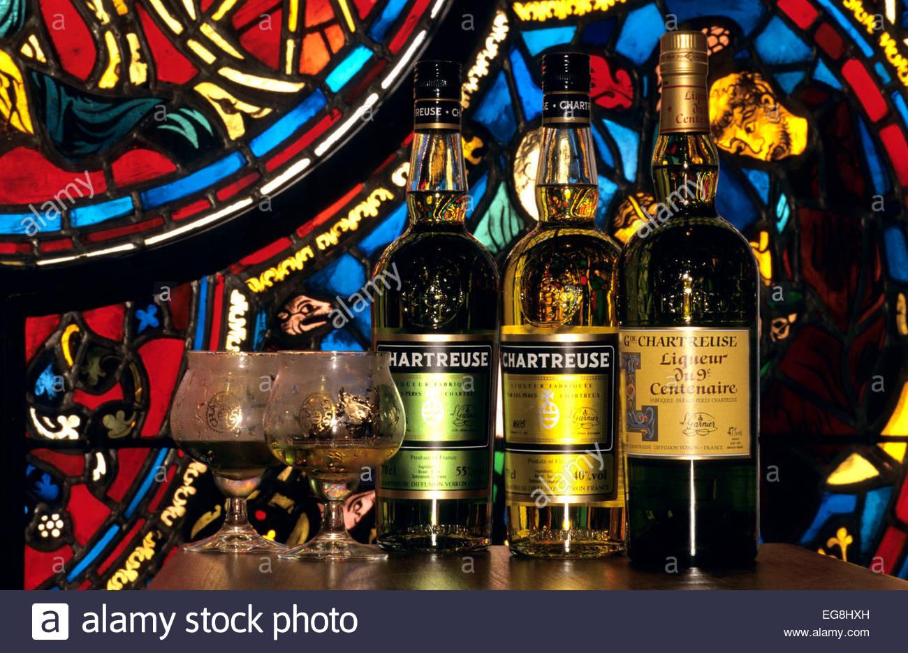 Liqueur de la Chartreuse, Voiron, Isere, France - Stock Image