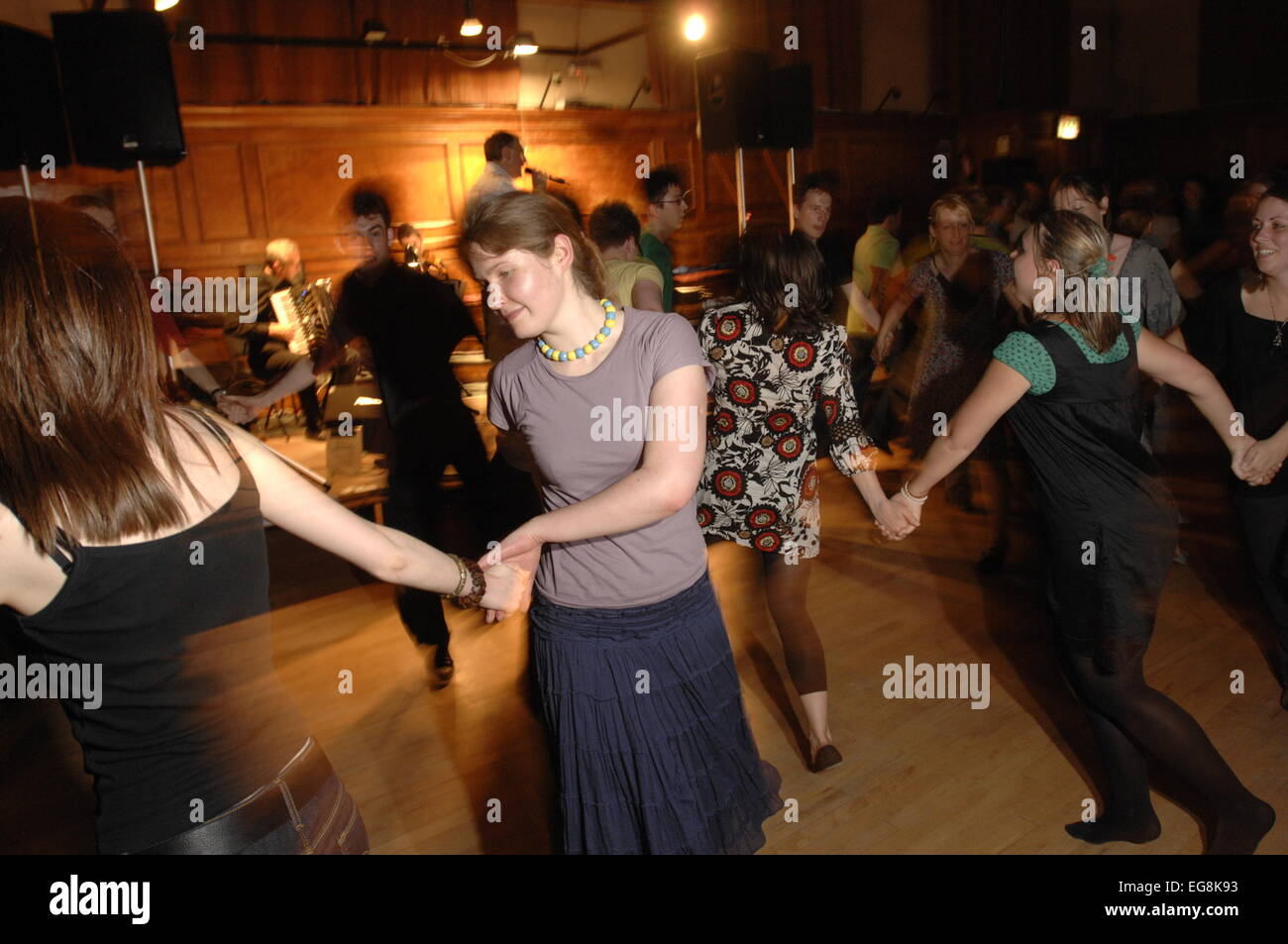 Ceilidh club  at Cecil Sharp House London NW1 - Stock Image