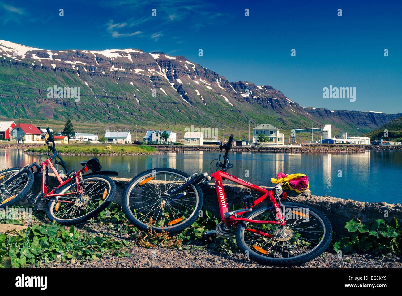 Seydisfjordur. East Fjords. Iceland, Europe. - Stock Image