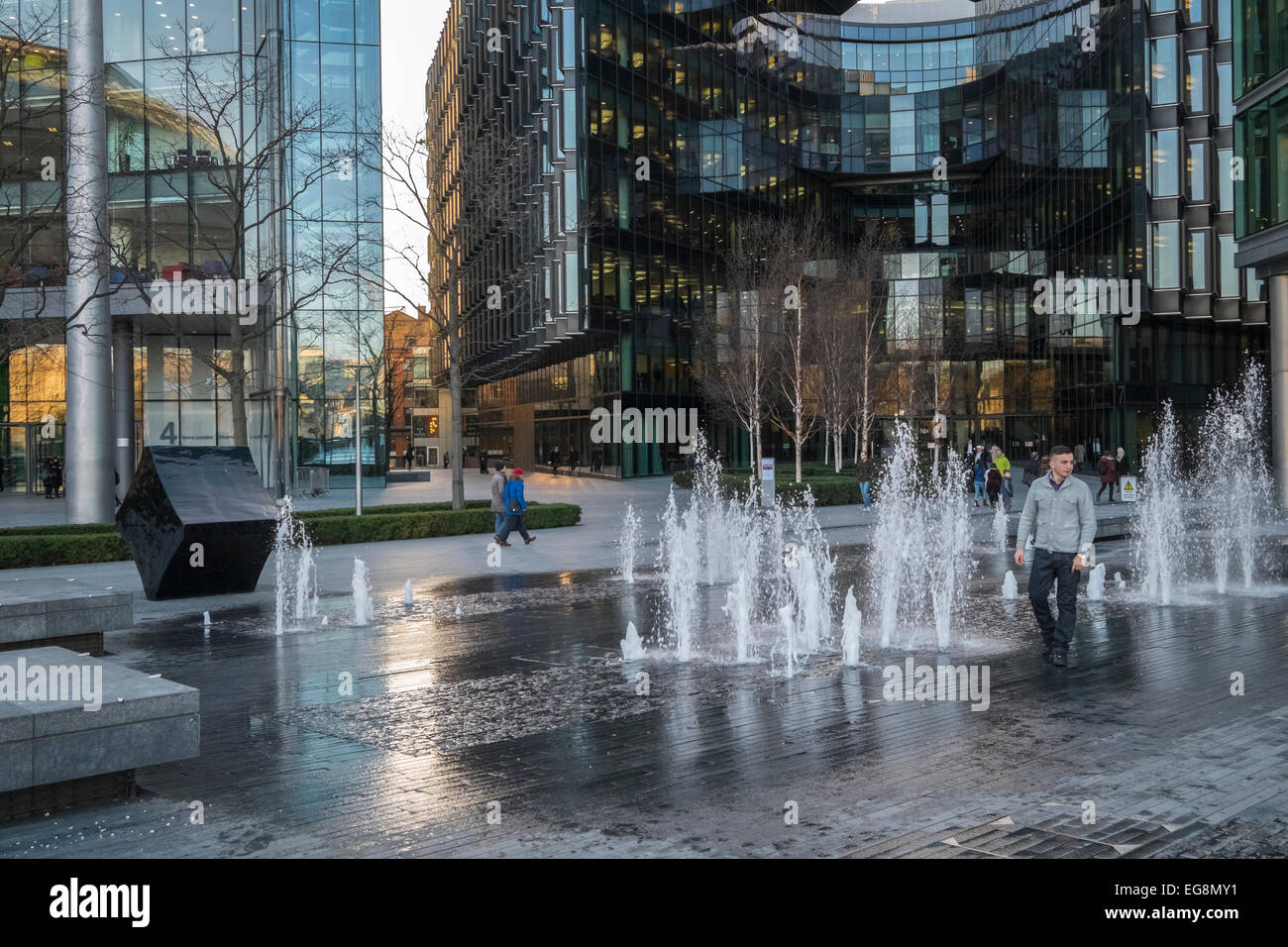 More London Riverside area, with PWC offices in the background. - Stock Image