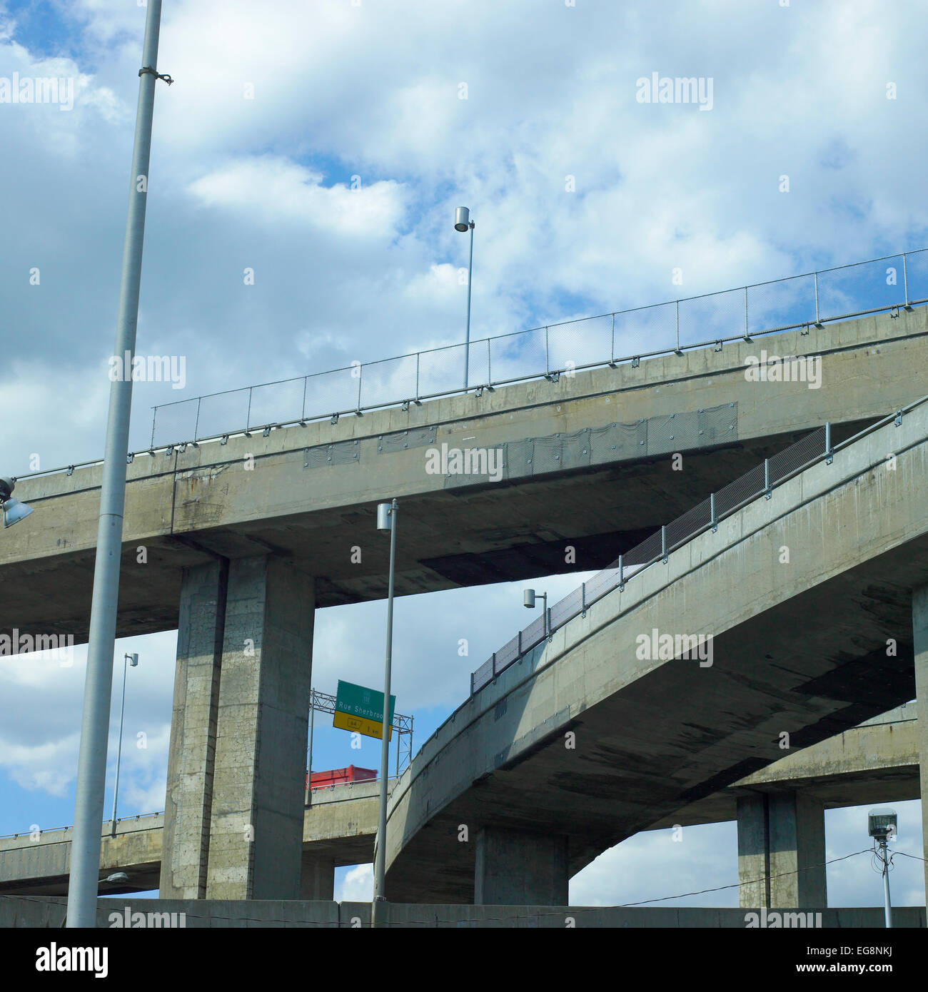 Overpasses Free way - Stock Image