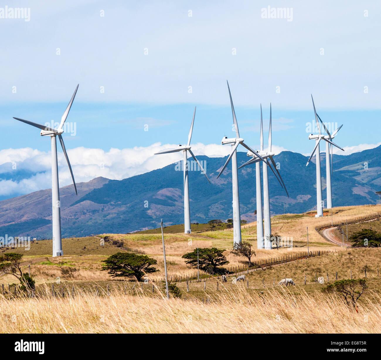 Wind generators in Costa Rica. - Stock Image