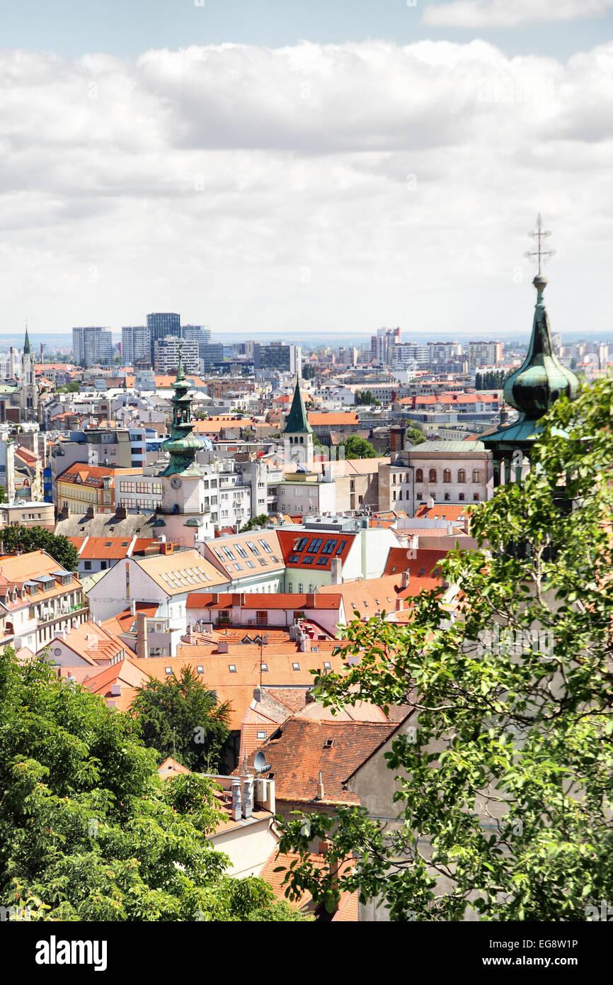 Panoramic view of Bratislava, Slovakia - Stock Image