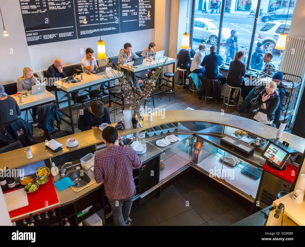 Berlin Germany Group Young People Sharing Drinks Inside German Stock Photo Alamy