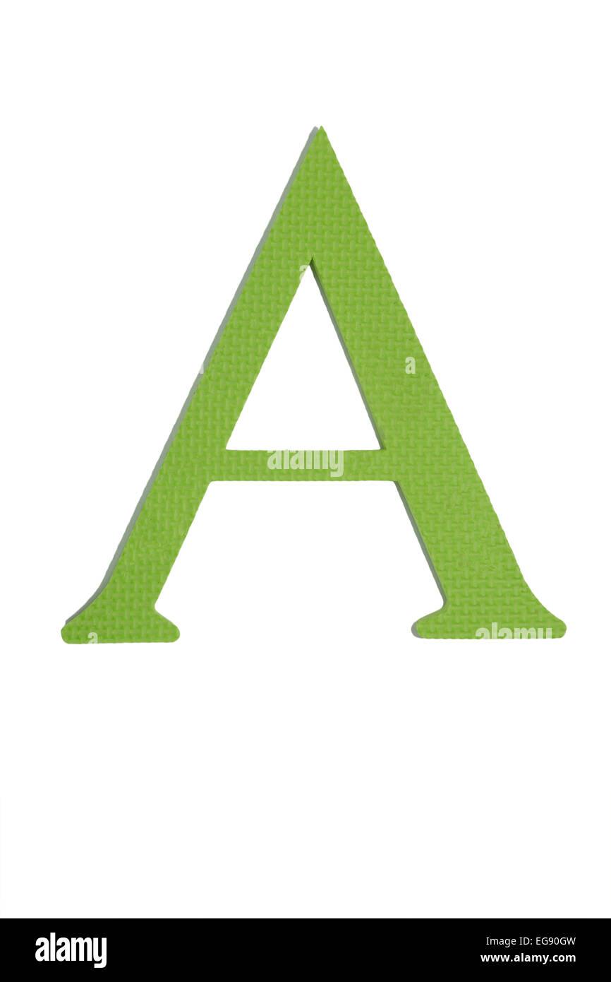 Colorful greek alphabet. Alpha. Green - Stock Image