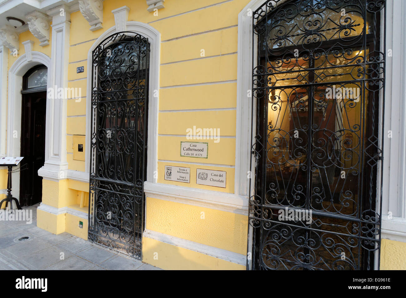 Exterior of the Casa Frederick Catherwood in Merida, Yucatan, Mexico Stock Photo