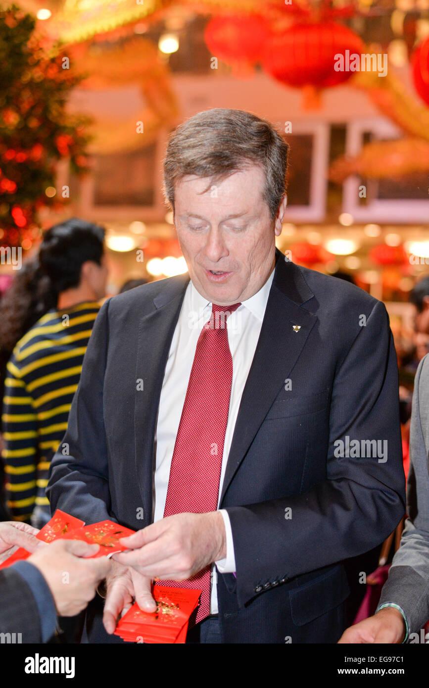 TORONTO, ONTARIO/CANADA - 18th Wednesday February 2015 : Toronto mayor John Tory attends Chinese New Year events Stock Photo