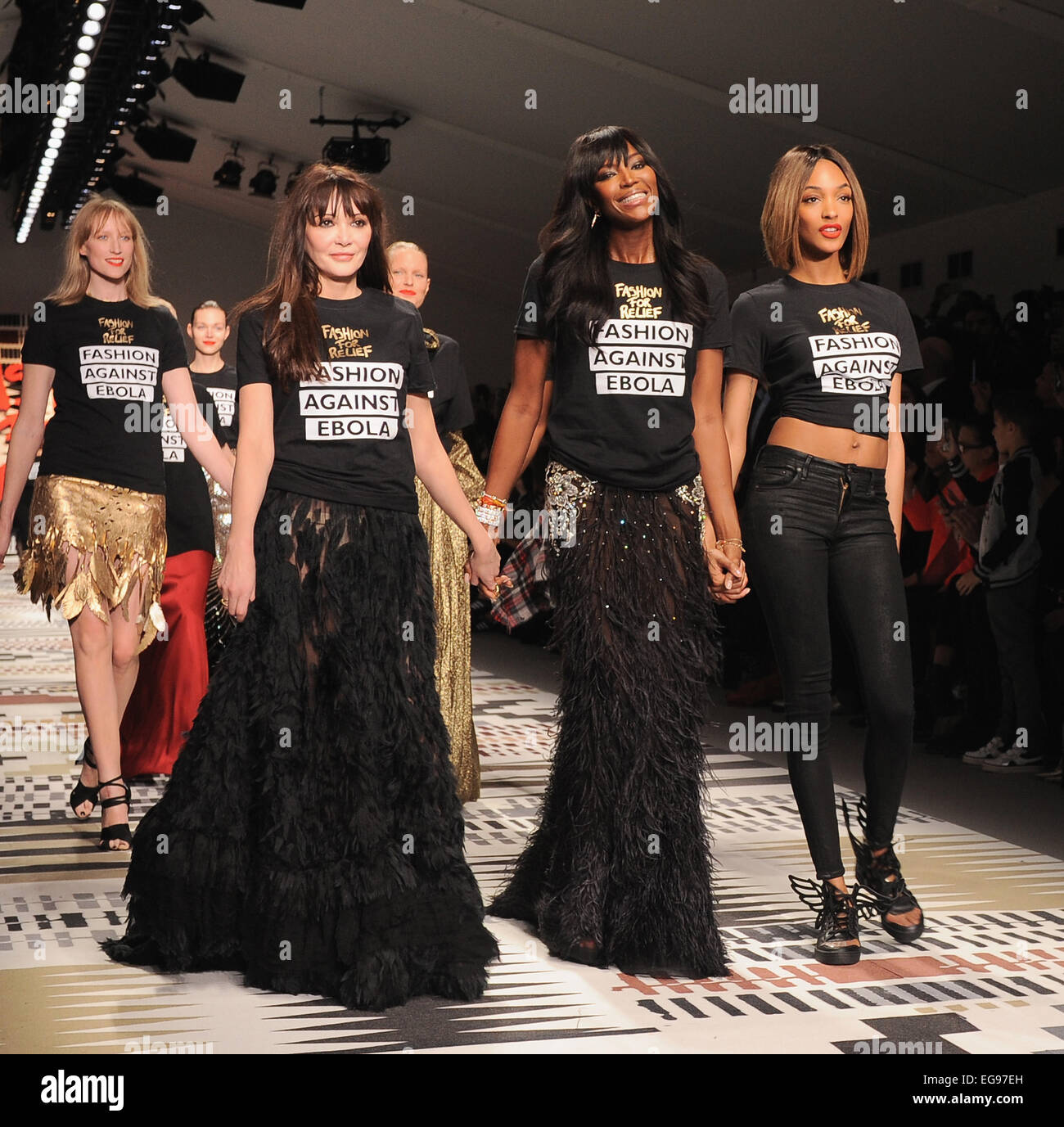 Annabelle Neilson Naomi Campbell Andjourdan Dunn Walks The Runway At Naomi Campbells Fashion For Relief Catwalk Show And Fundraiser A Celebrity Catwalk