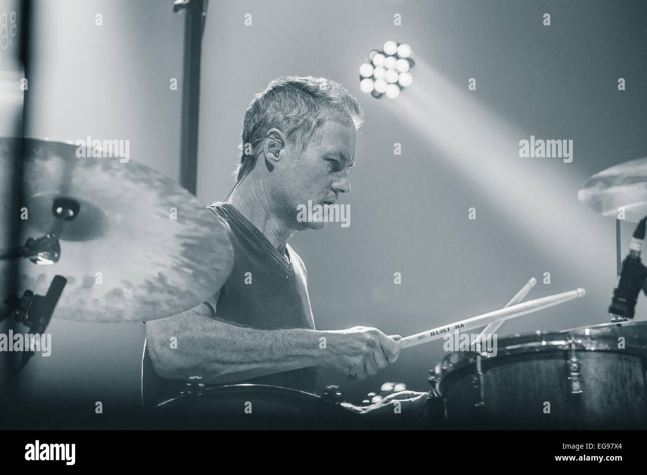 Toronto, Ontario, Canada. 19th Feb, 2015. JOHNNY FAY, drummer of ...