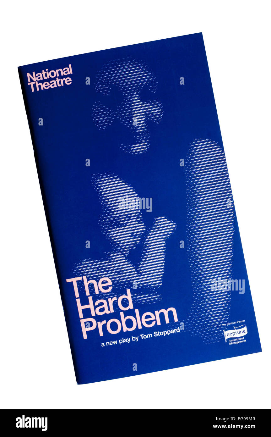 Programme for the 2015 production of The Hard Problem by Tom Stoppard at the Dorfman Theatre. - Stock Image