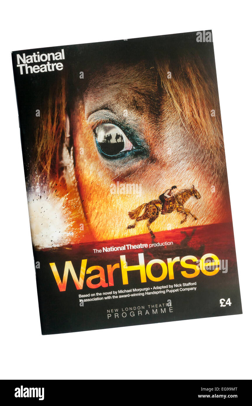 A theatre programme for the 2009 West End transfer of the National Theatre production of War Horse at The New London - Stock Image