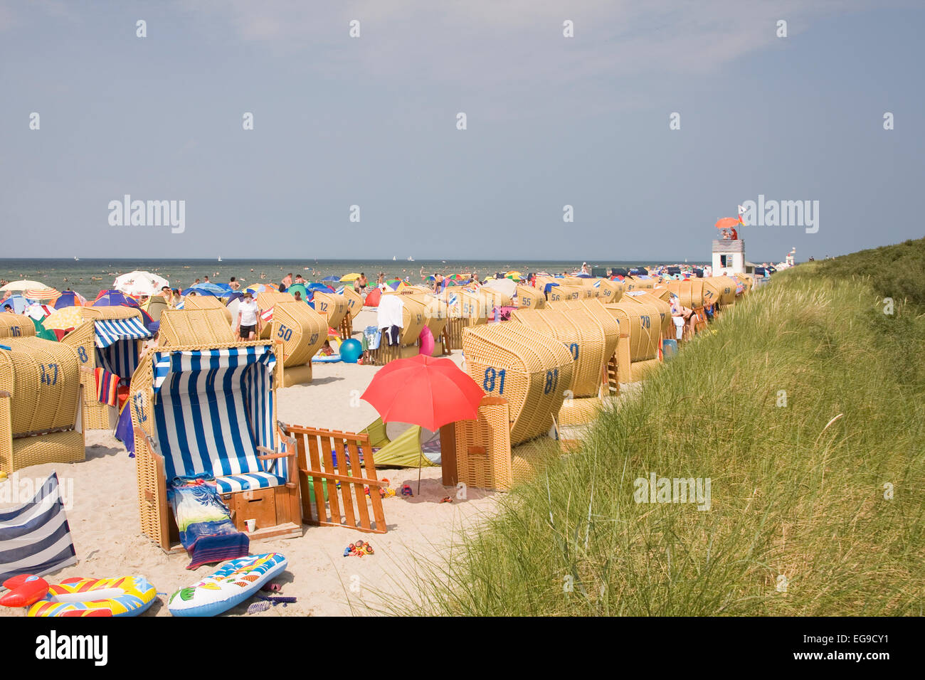 Timmendorf beach, island of Poel, Mecklenburg-Western Pomerania, Germany, Europe Stock Photo