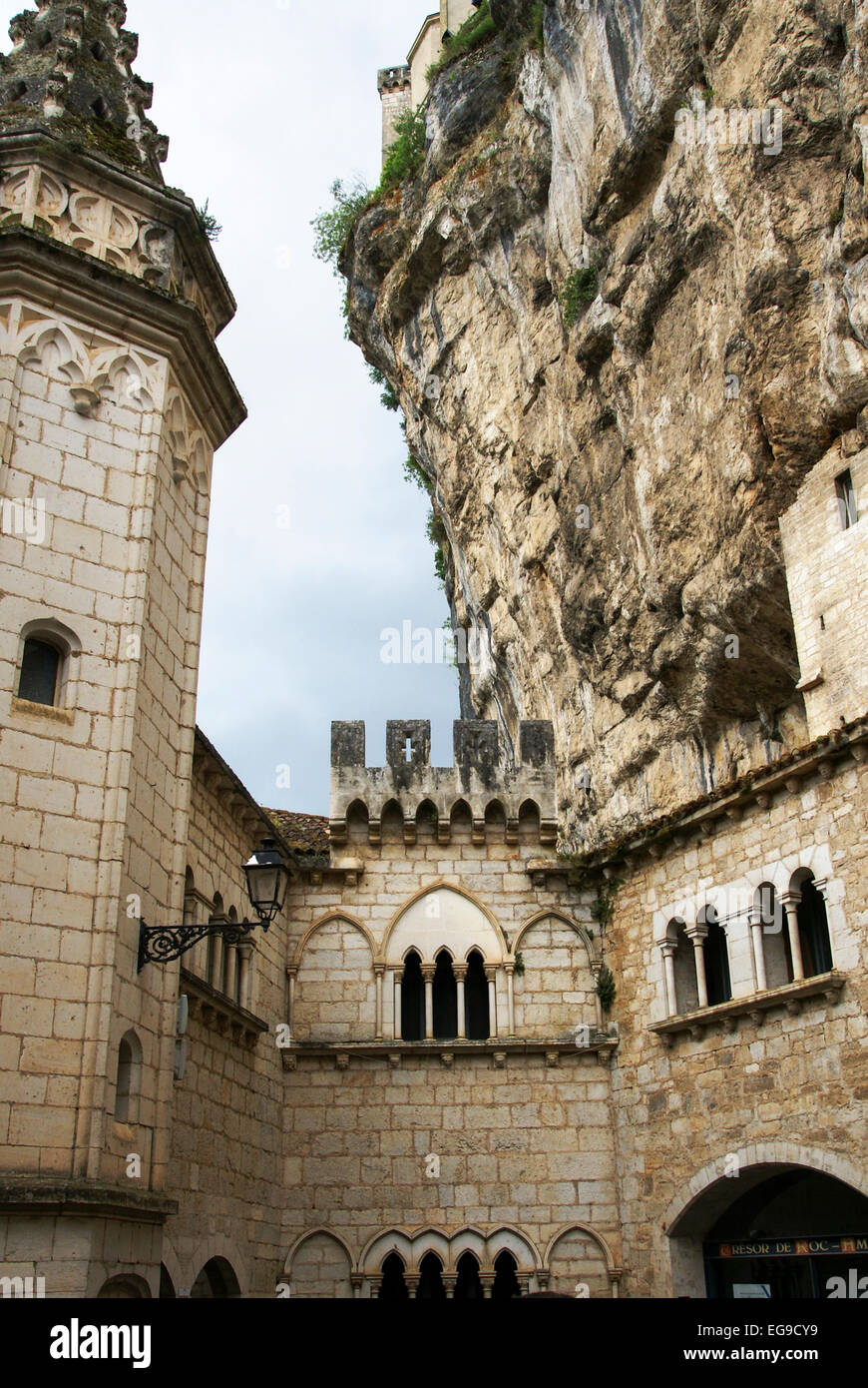 Rocamadour is a commune in the Lot department in southwestern France - Stock Image