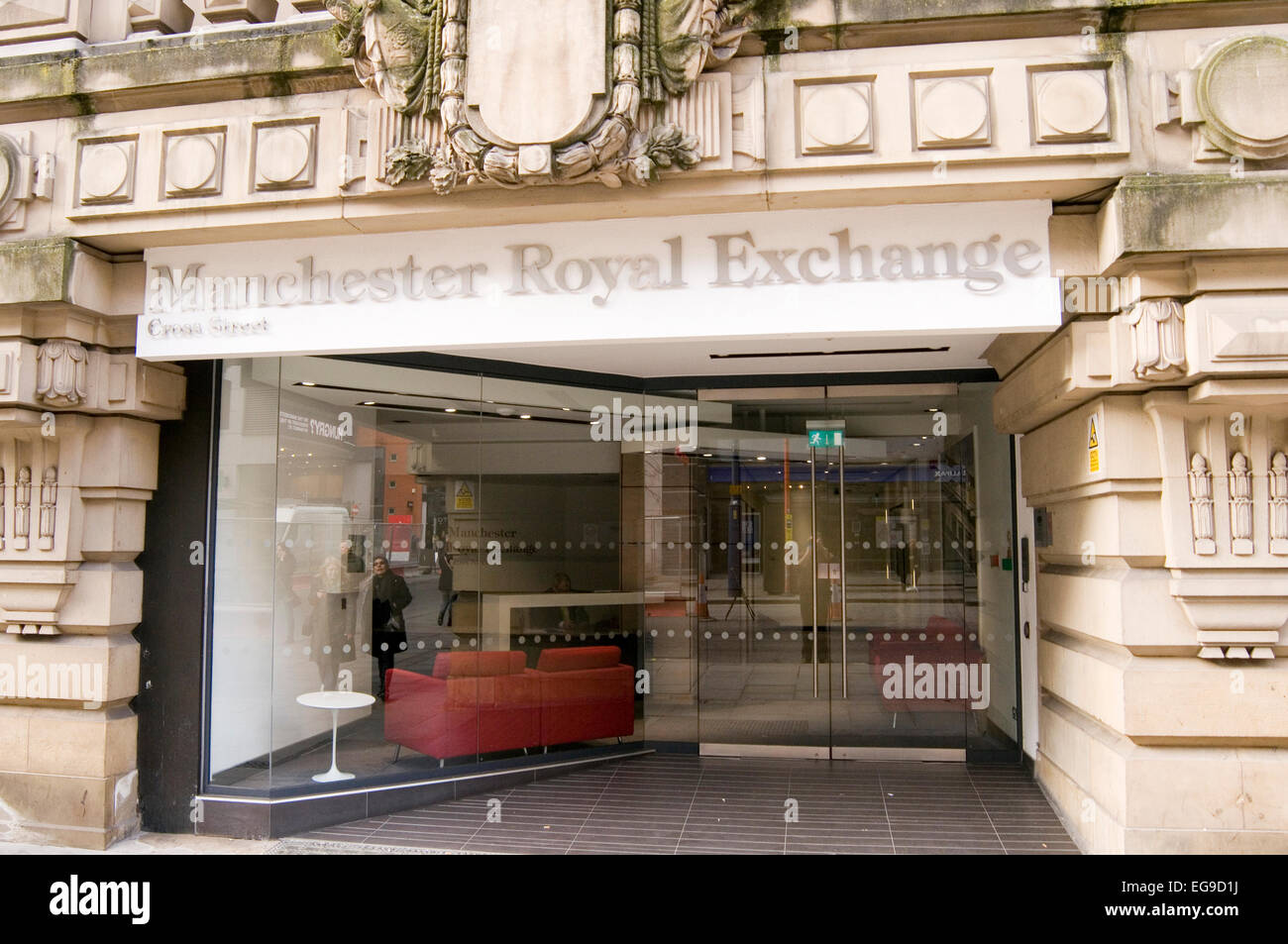 royal exchange theater manchester uk - Stock Image
