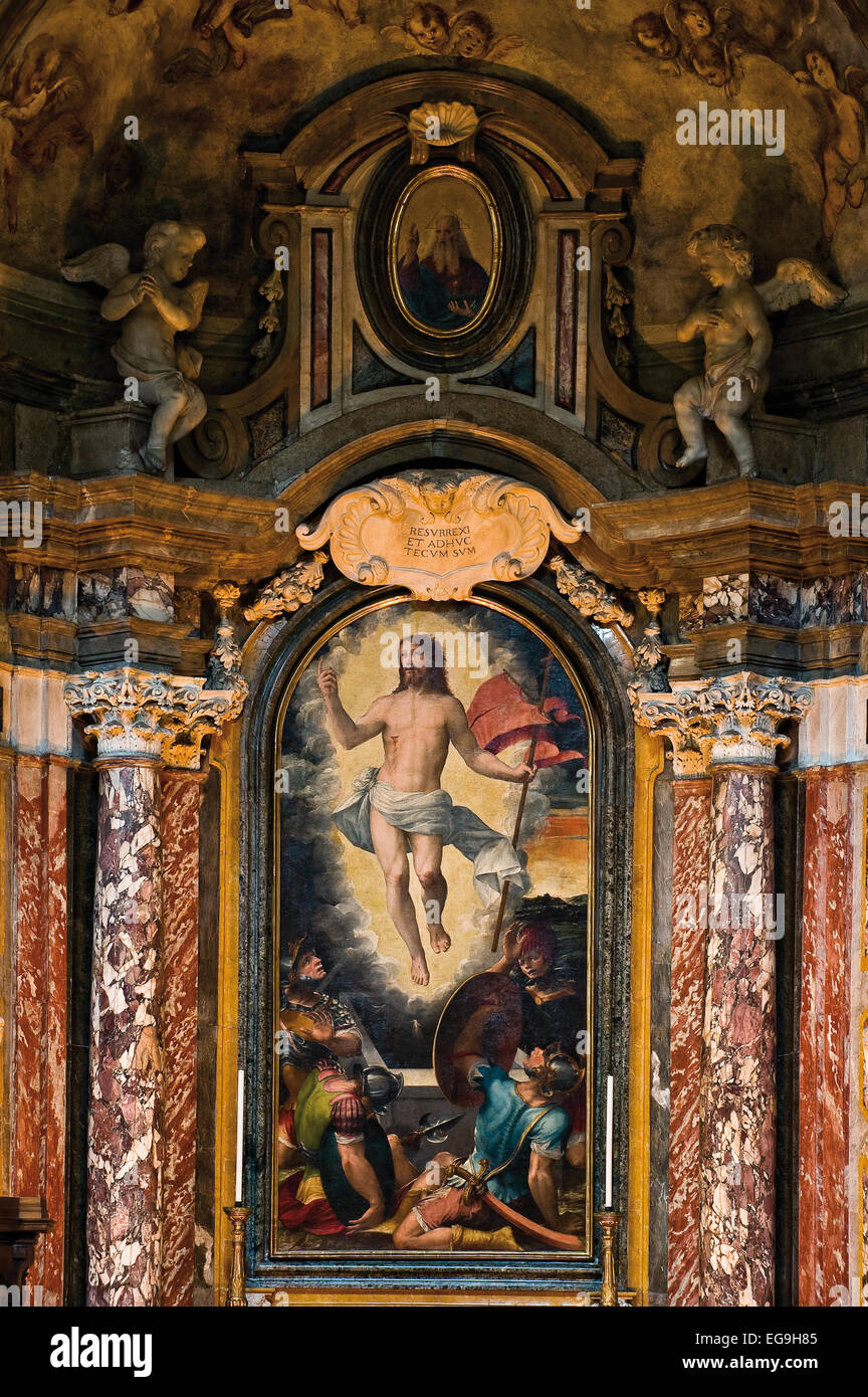 Piedmont, Turin, Duomo, Chapel of the Resurrection, icon painted in 1575 by Giacomo Rossignolo - Stock Image