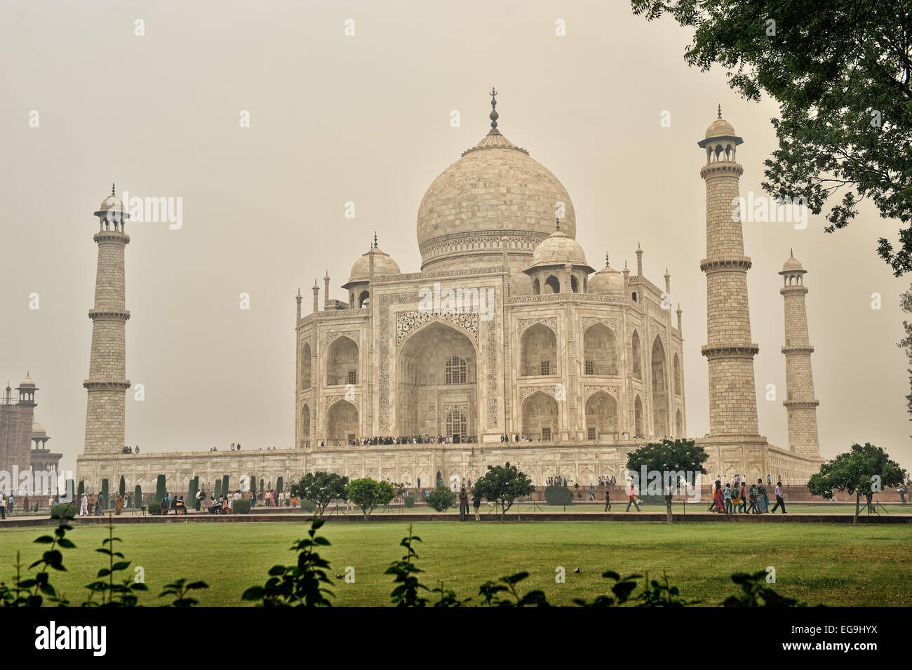 Commissioned in 1632 by the Mughal emperor Shah Jahan to house the remains of his cherished wife - Stock Image