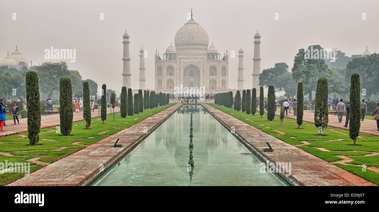 Famous spot of Taj Mahal - Stock Image