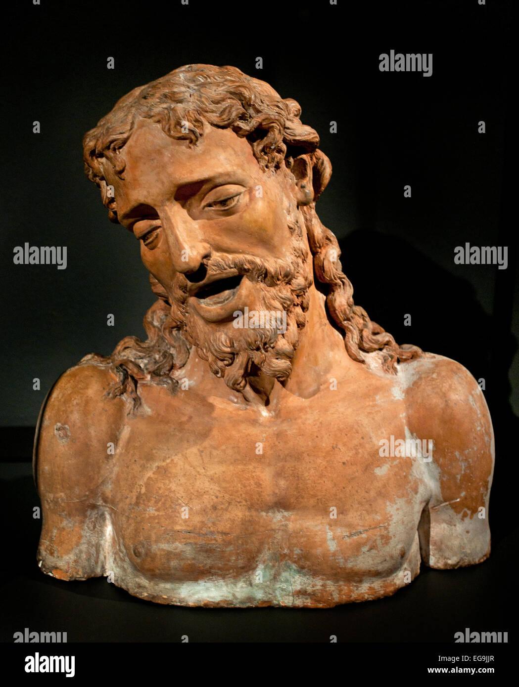 Christ as the Man of Sorrows c. 1530  Antonio Begarelli,   Italy Italian Stock Photo