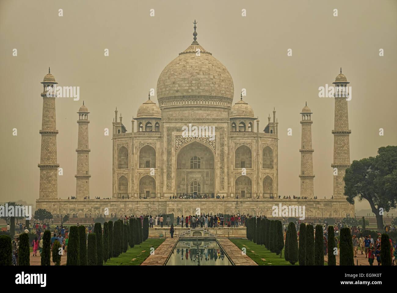 Busy Taj Mahal - Stock Image