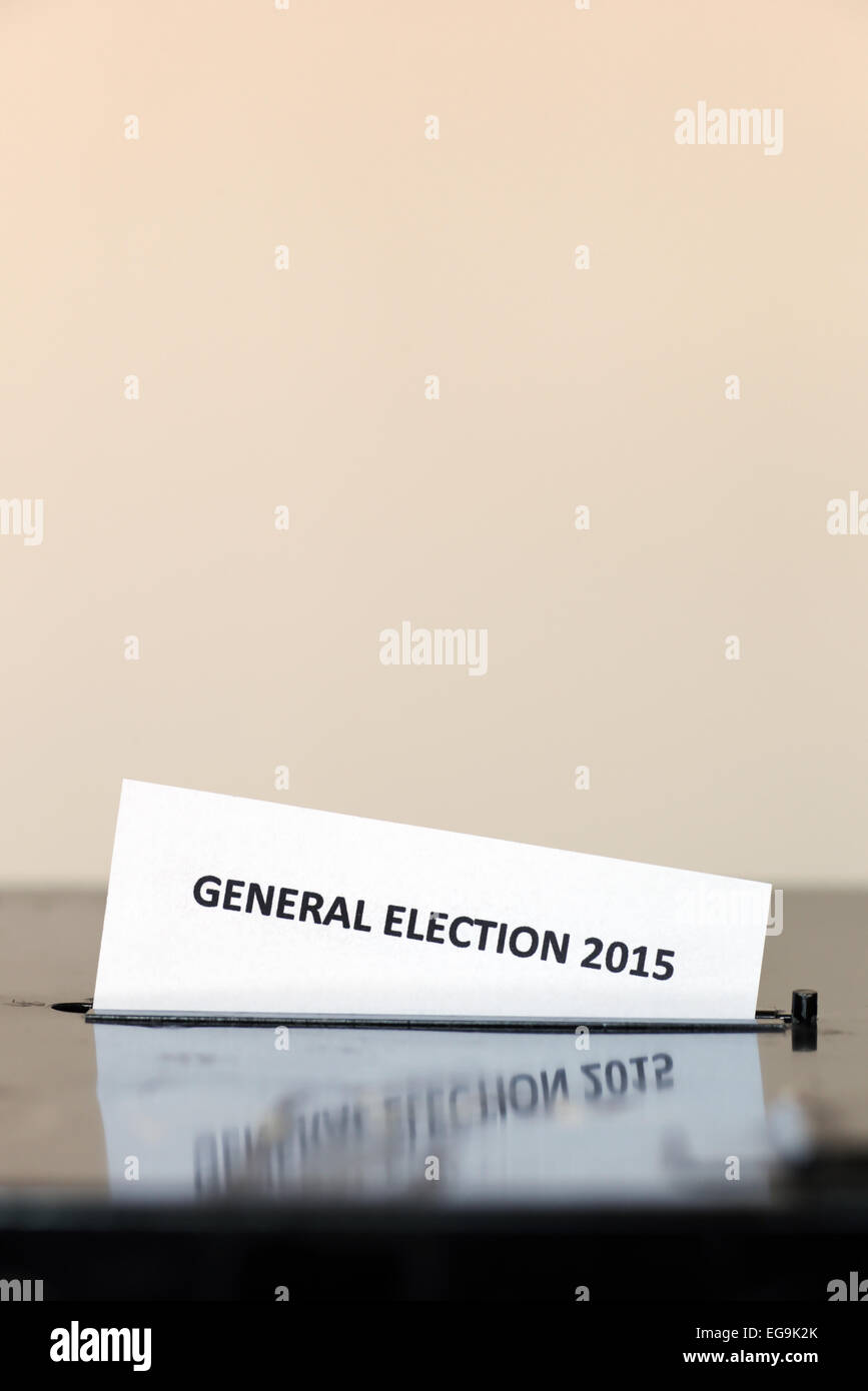 General Election 2015 ballot box. - Stock Image
