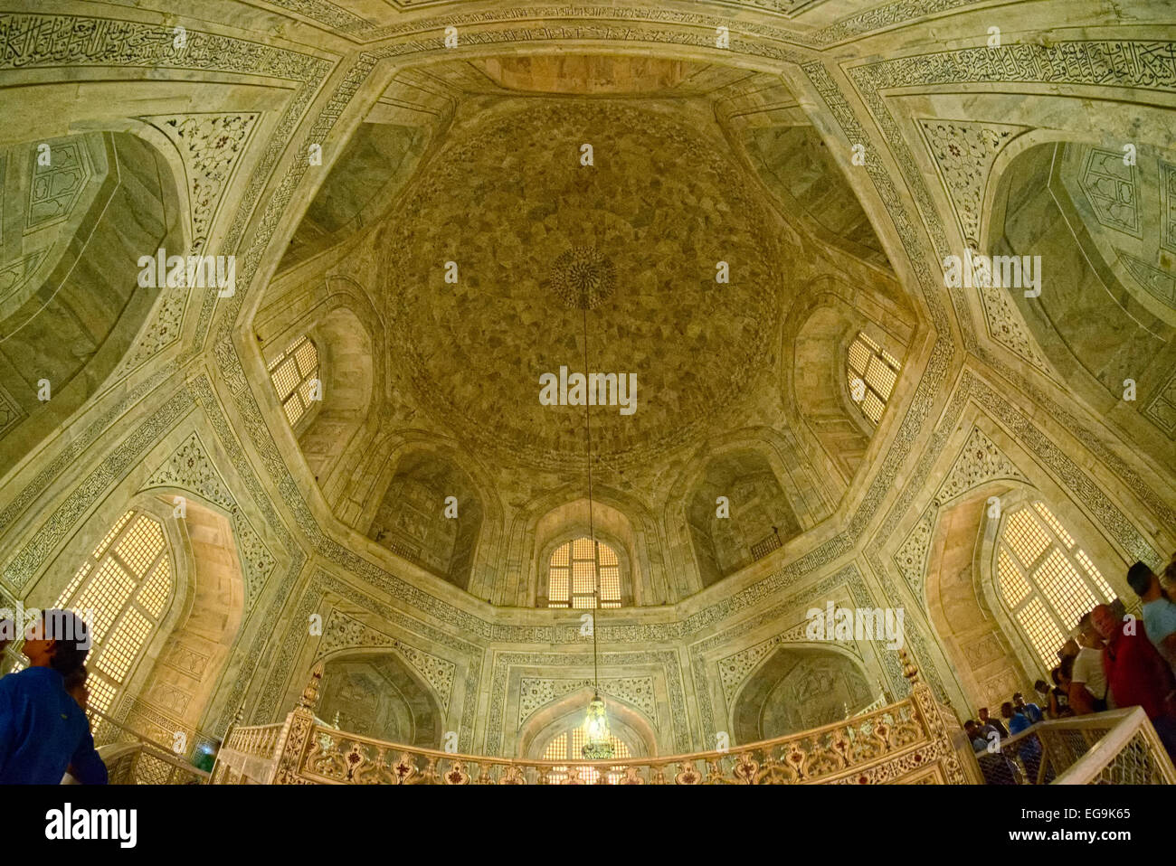 The interior hall is octagonal in shape and measures 58' in diameter and 80' in height from the pavement - Stock Image