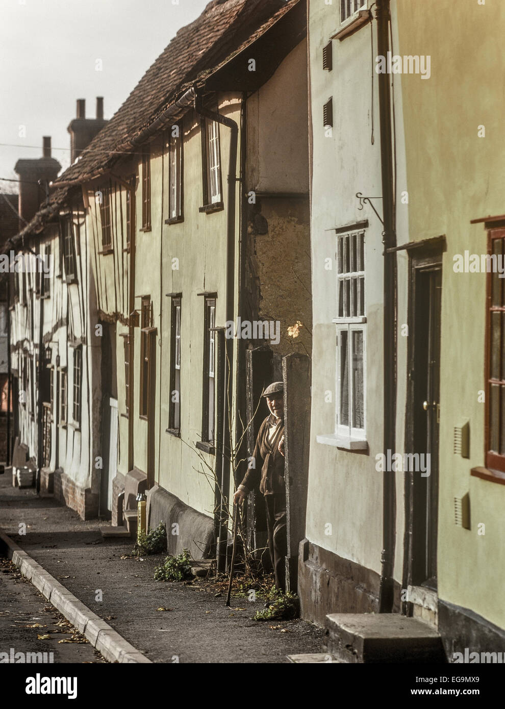 Old man in Bidleston. Suffolk. England. UK - Stock Image