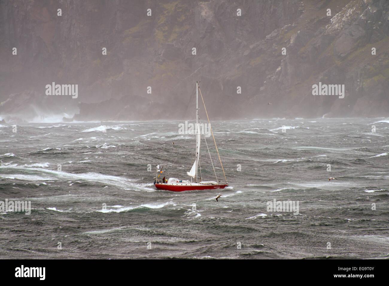 Yacht Jonathan rounding Cape Horn Tierra del Fuego - Stock Image