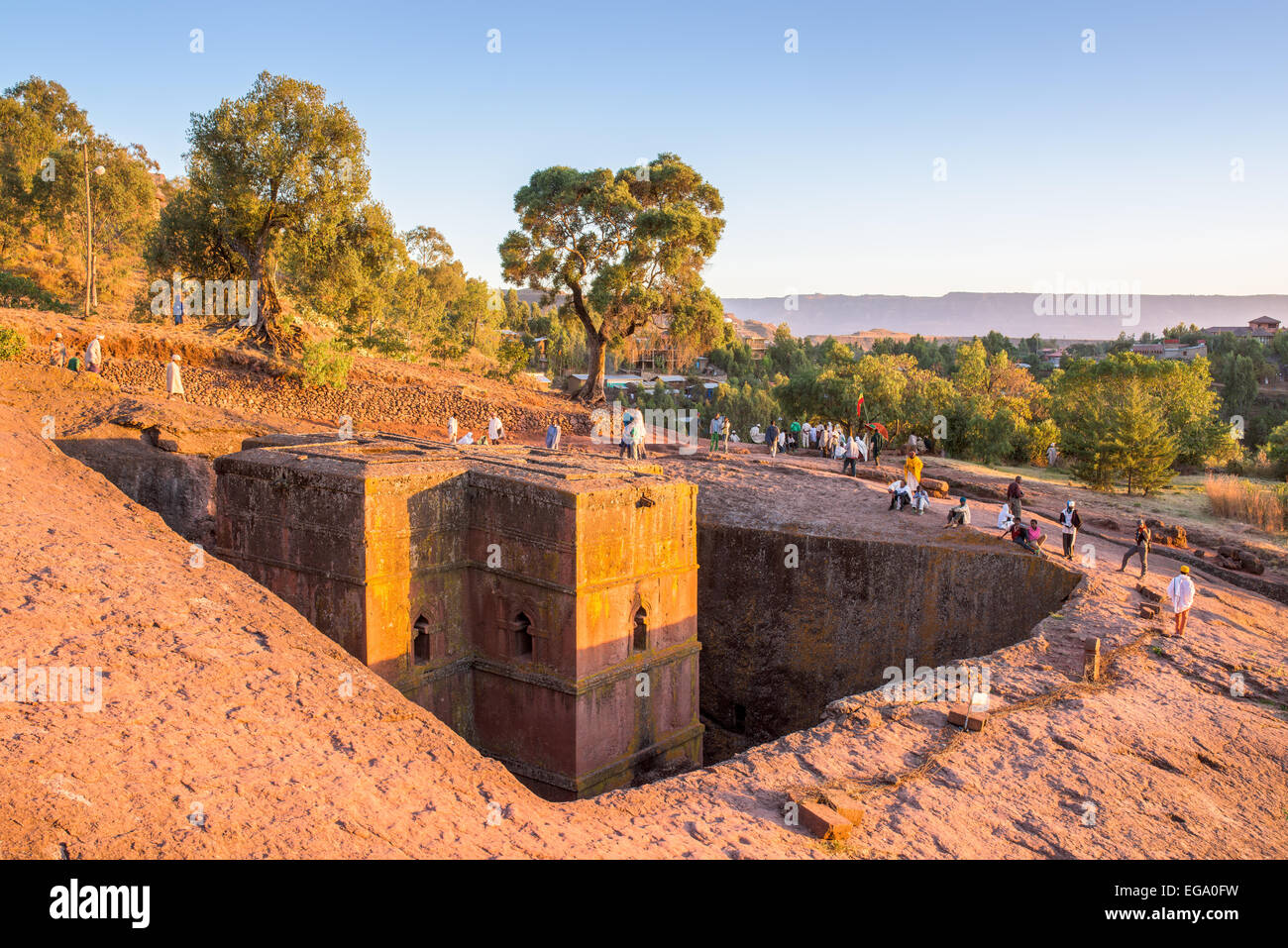 Saint George church in Lalibela Ethiopia - Stock Image